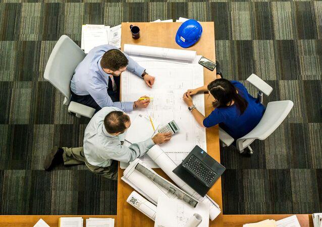 Une réunion d'affaires (image d'illustration)