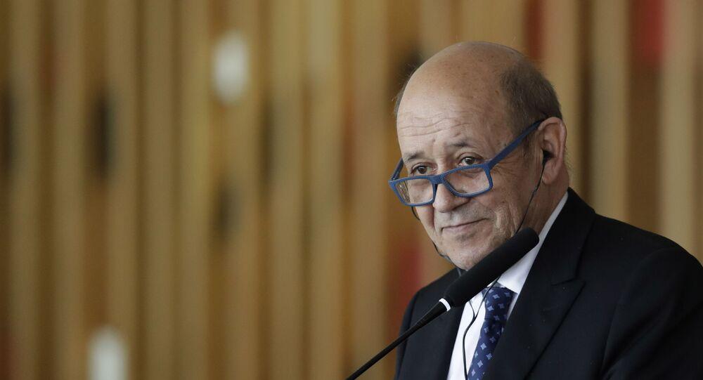 Jan-Yves Le Drian, ministre français de l'Europe et des Affaires étrangères