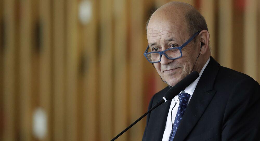 Jean-Yves Le Drian, ministre français de l'Europe et des Affaires étrangères