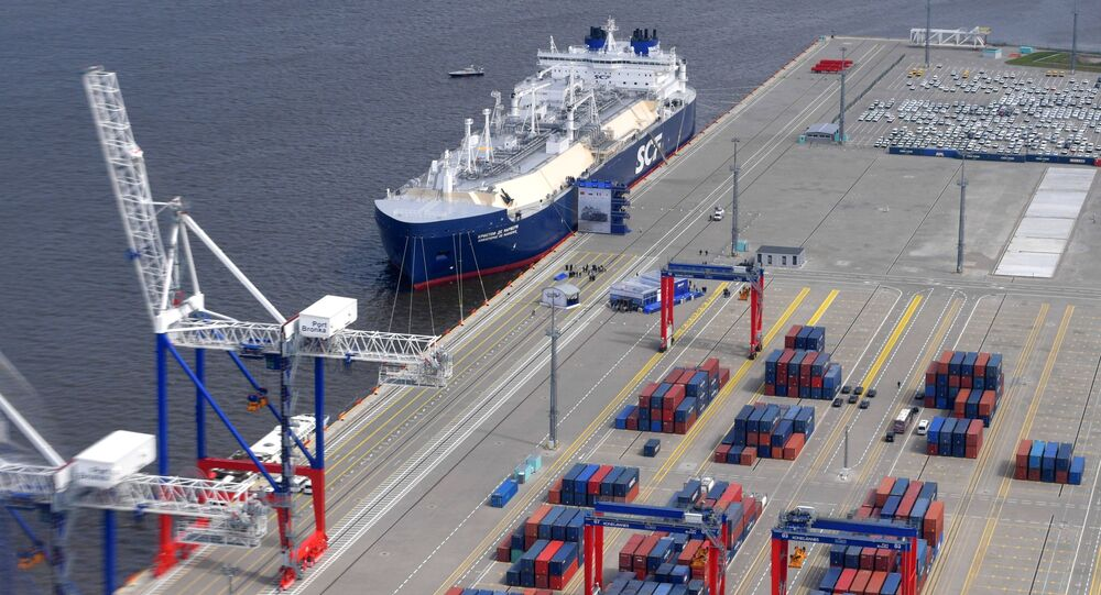 Le méthanier arctique Christophe de Margerie construit pour le projet Yamal LNG
