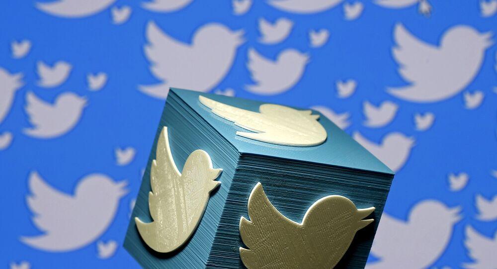 Logo de Twitter en 3D