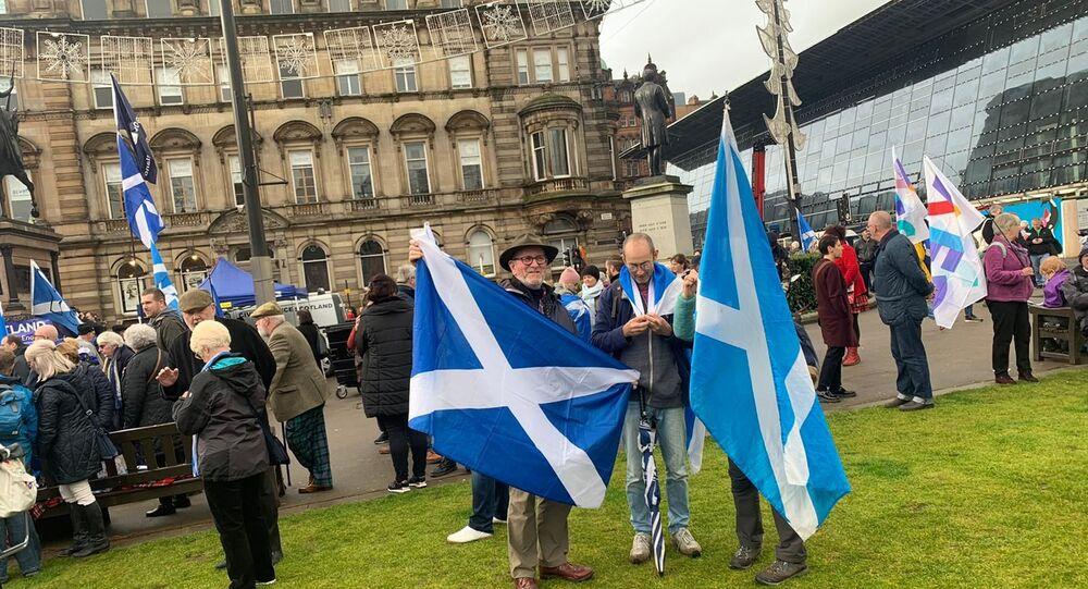 de manifestants en faveur de l'indépendance de l'Écosse