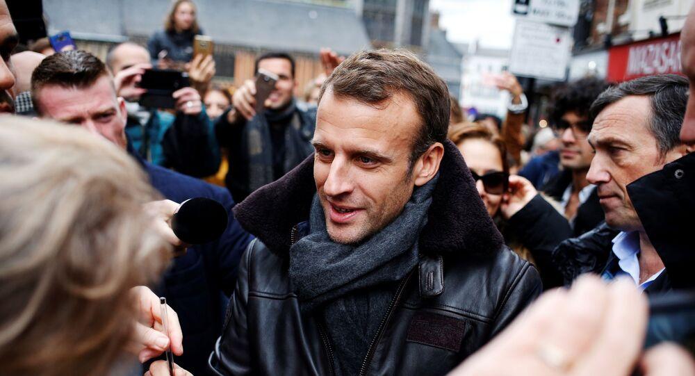 Emmanuel Macron à Honfleur