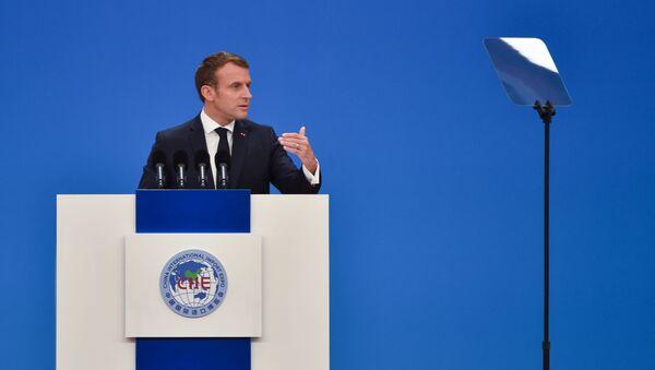 Emmanuel Macron en Chine - Sputnik France