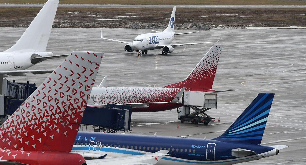 Boeing 747-400 à Moscou