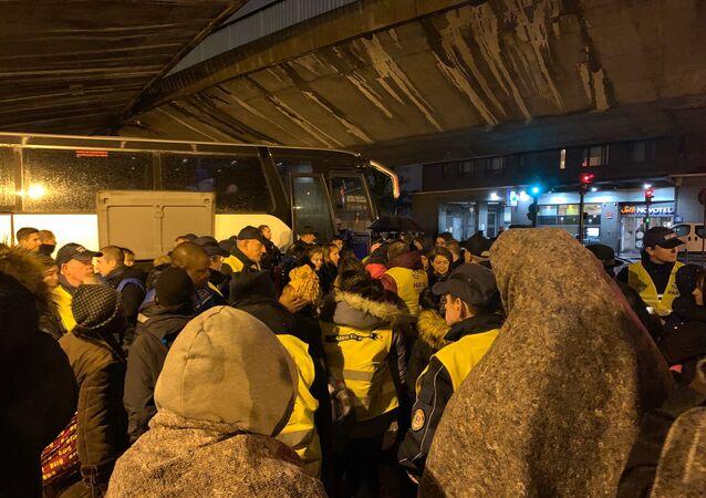 L'évacuation du camp de migrants porte de la Chapelle, 7 novembre 2019