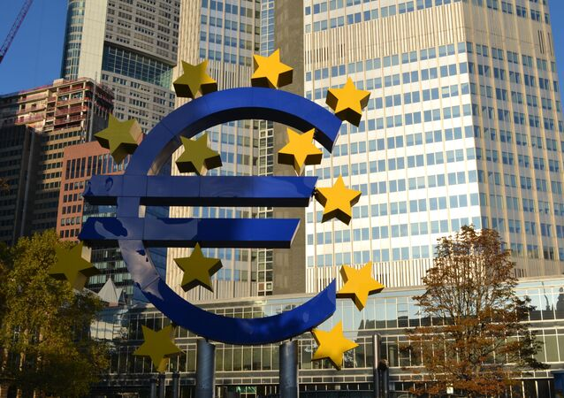 Symbole de l'euro à Francfort-sur-le-Main