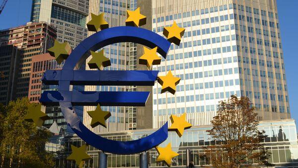 Symbole de l'euro à Francfort-sur-le-Main - Sputnik France