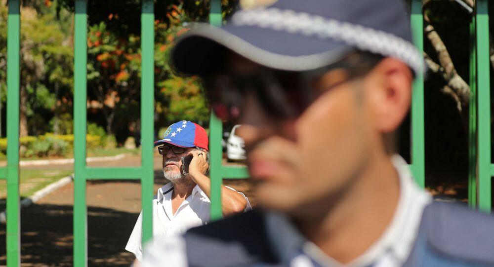 Un policier devenat l'ambassade vénézuelienne au Brésil