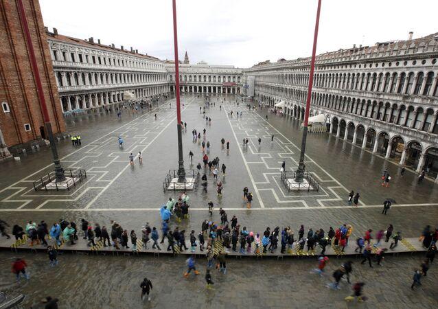 La place Saint-Marc à Venise, le 12 novembre 2019.