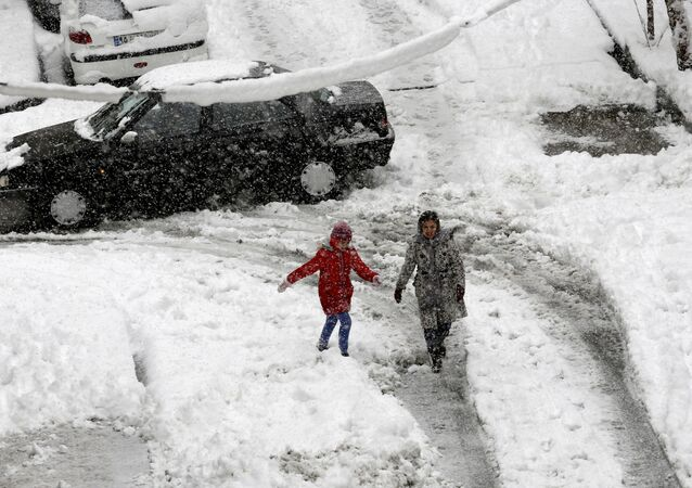 Chutes de neige à Téhéran. Archives