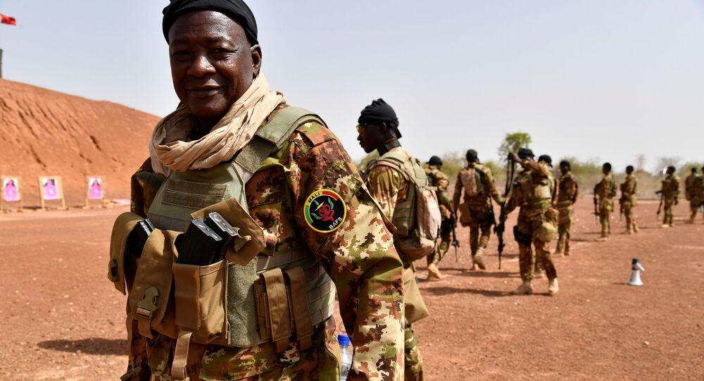 Un soldat malien.