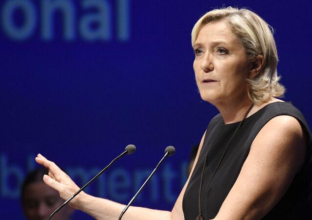Présidente du RN Marine Le Pen