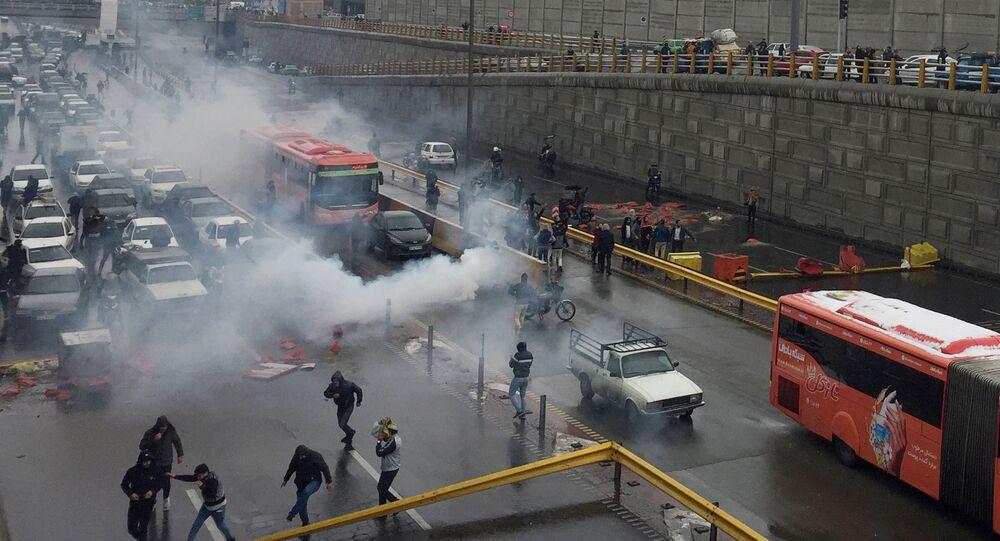 Protestations à Téhéran en novembre 2019
