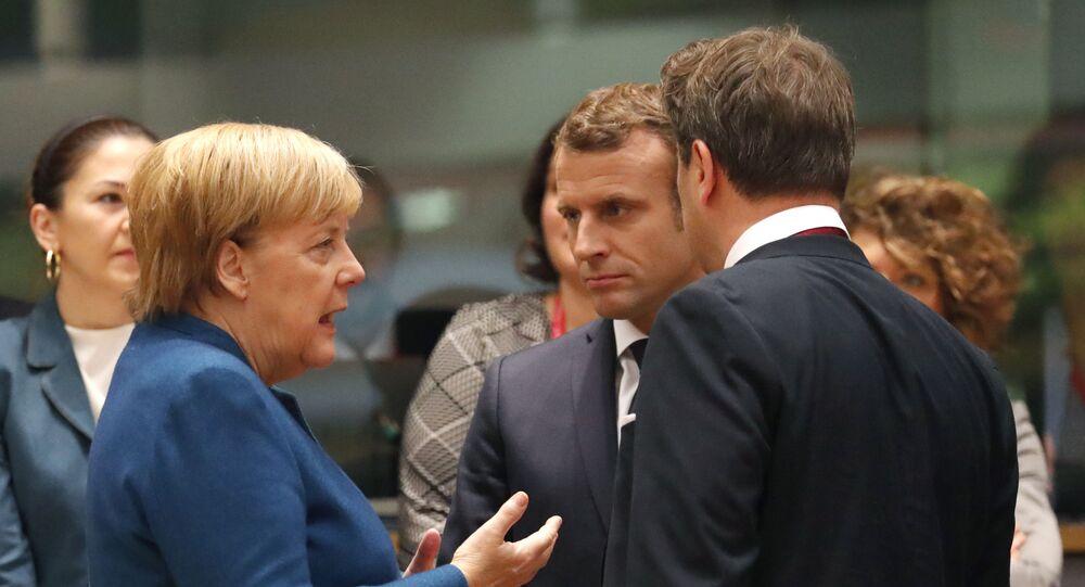 Angela Merkel et Emmanuel Macron à Bruxelles en 2019