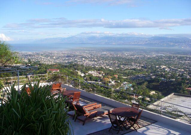 Vue sur Haïti en 2007.