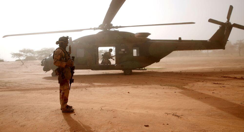 Un soldat français de l'Opération Barkhane