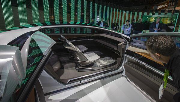 L'intérieur du concept car autonome d'Audi, l'Aicon, au Las Vegas Convention Center. - Sputnik France