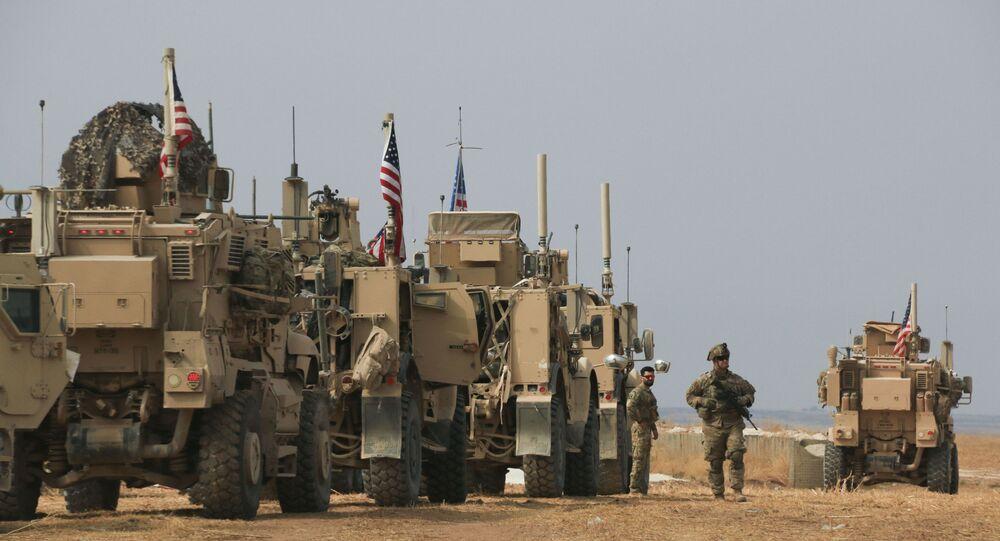 Un convoi militaire américain dans le nord de la Syrie