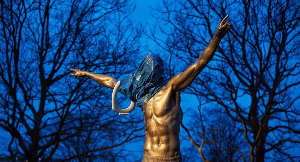 Zlatan Ibrahimovic statue vandalized in Malmoe