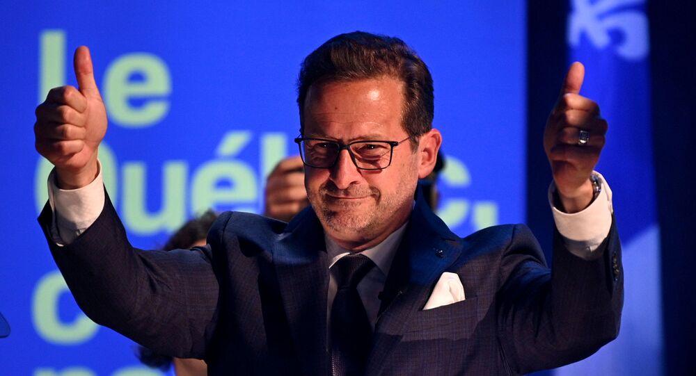 Le leader du Bloc québécois, Yves-François Blanchet.