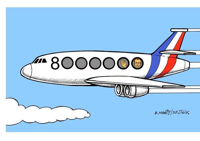 8 millions d'euros de voyages en avion pour Macron et l'Élysée en 2018