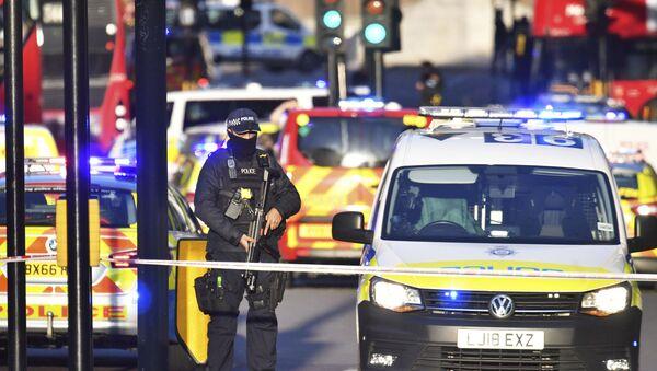 Une attaque au couteau sur le pont de Londres, le 29 novembre 2019 - Sputnik France