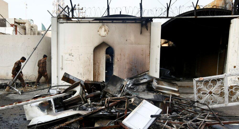 Le consulat iranien à Nadjaf, en Irak, après l'incendie