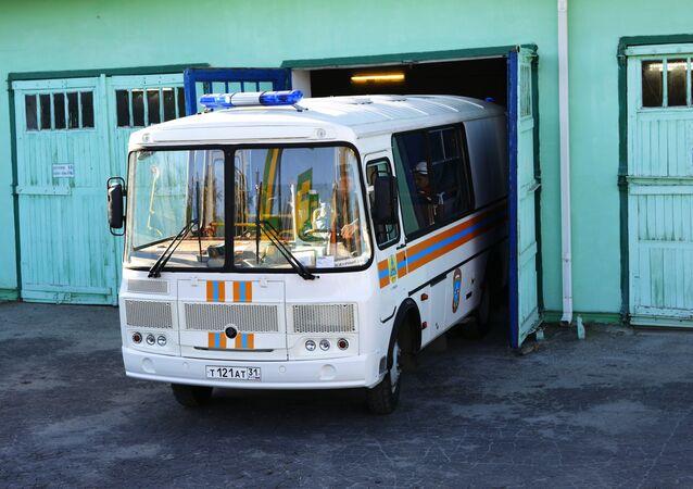 Un bus des services d'urgence russes