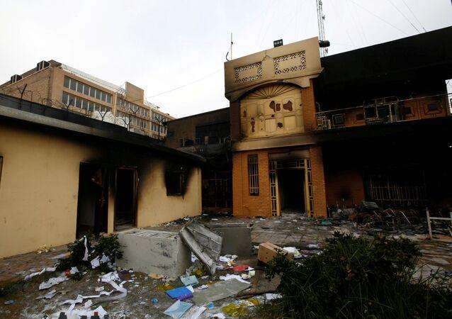Consulat iranien incendié à Nadjaf, 28 novembre 2019