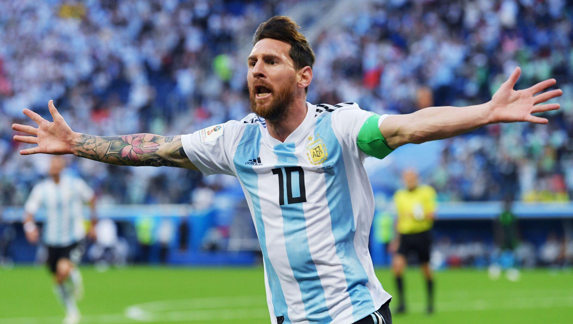 Lionel Messi lors du match Nigeria-Argentine à la Coupe du monde 2018 - Sputnik France, 1920, 10.08.2021