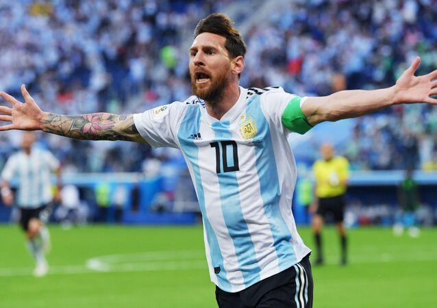 Lionel Messi lors du match Nigeria-Argentine à la Coupe du monde 2018