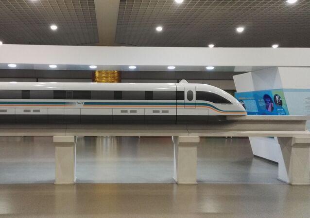 Un train en lévitation magnétique, image d'illustration