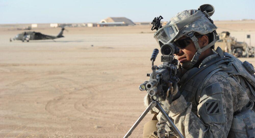 Un soldat américain à la base aérienne d'Al-Asad en Irak (archive photo)