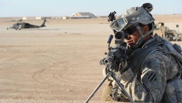 Un soldat américain à la base aérienne d'Al-Asad en Irak (archive photo) - Sputnik France