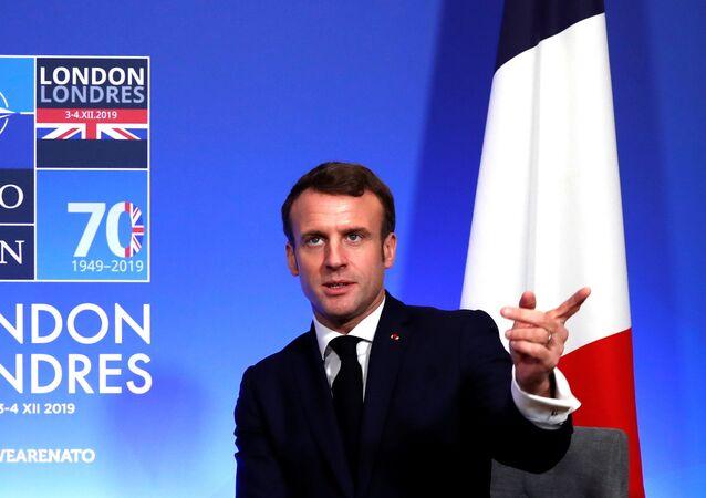 Emmanuel Macron lors du sommet du 70e anniversaire de l'Otan à Londres