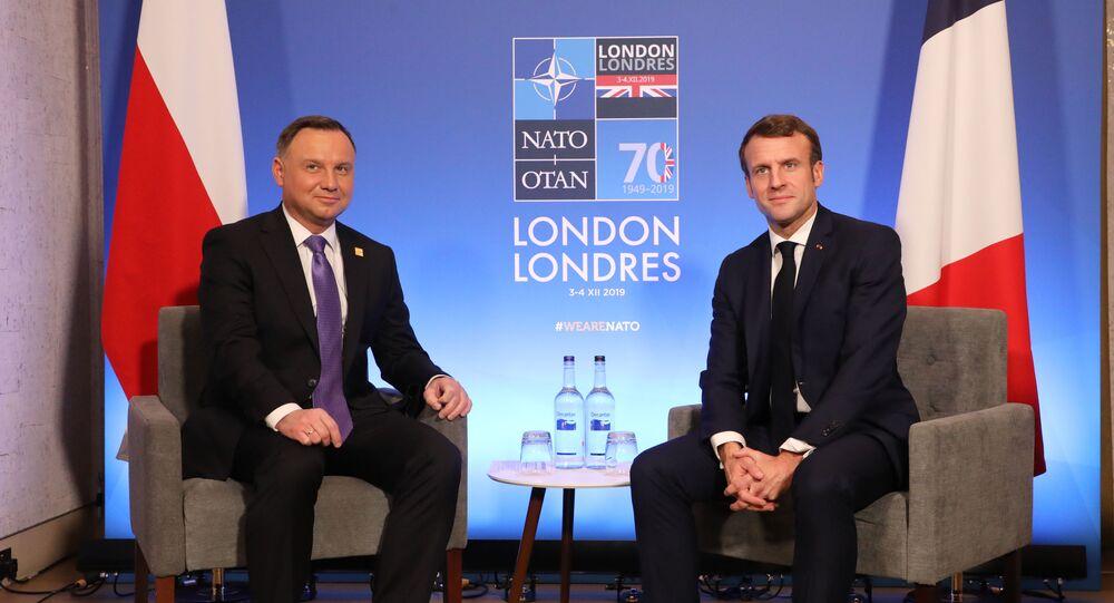 Andrzej Duda et Emmanuel Macron en marge du sommet de l'Otan à Londres