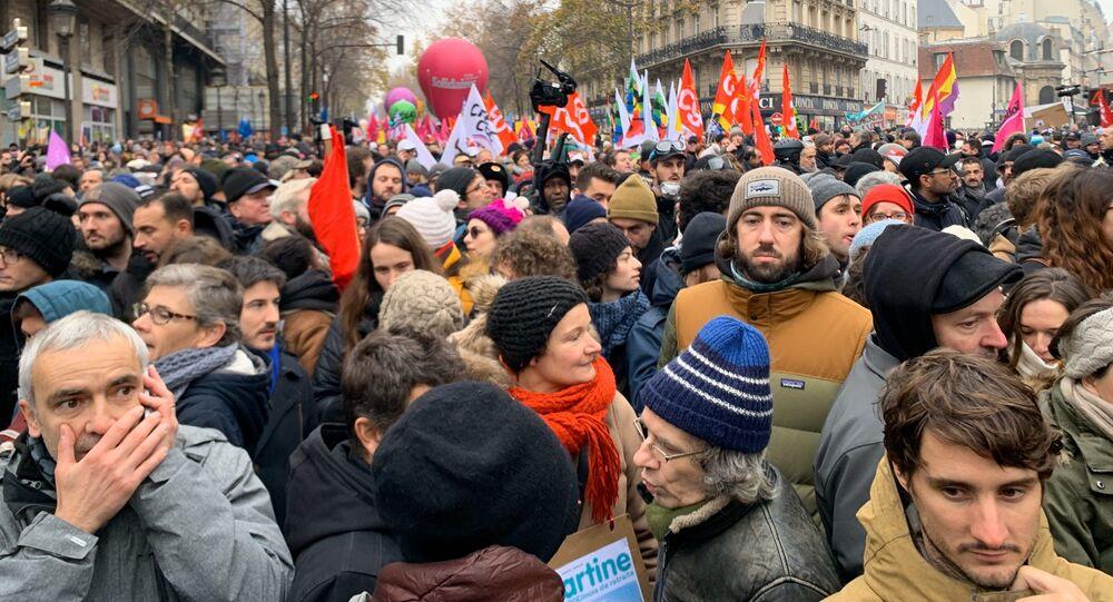 Manifestation contre la réforme des retraites à Paris, 5 décembre 2019