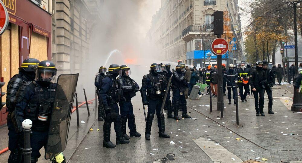 la grève du 5 décembre à Paris