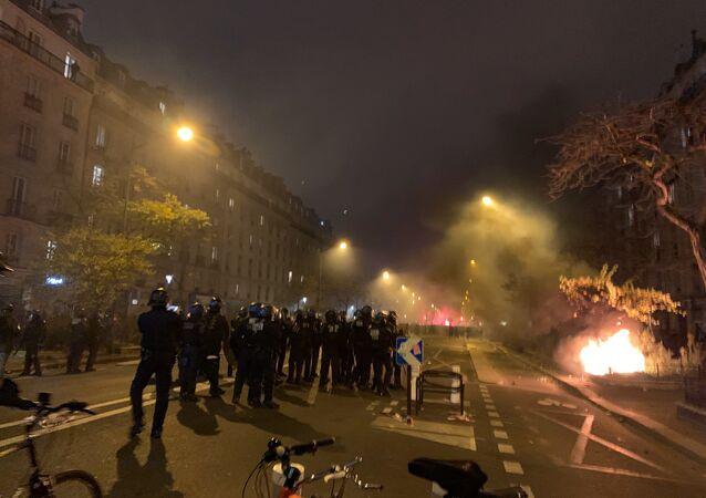 La police parisienne lors de la grève du 5 décembre (image d'illustration)
