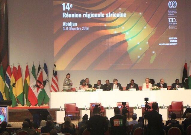 Cérémonie d'ouverture de la 14e Réunion régionale africaine de l'OIT.