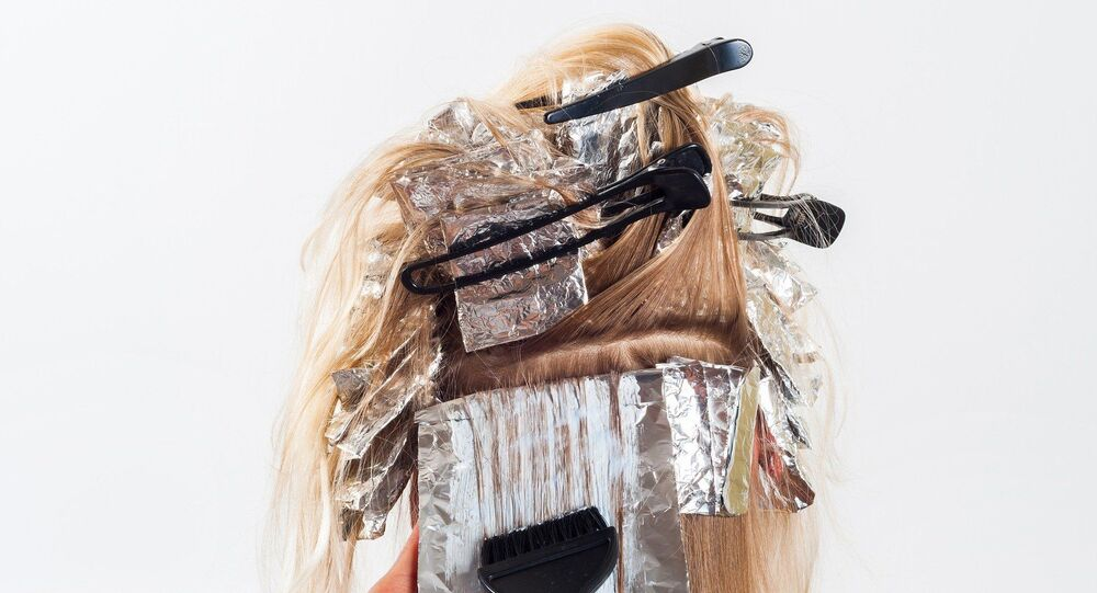 Une coloration des cheveux
