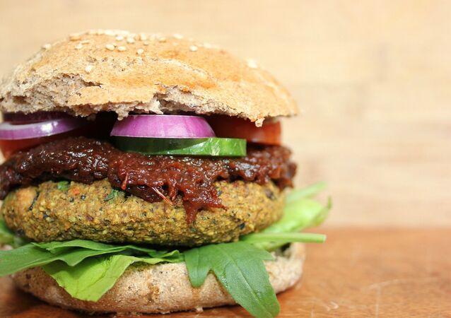 Un burger végétalien (image d'illustration)