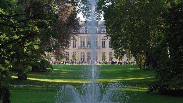 Vue du palais de l'Élysée depuis ses jardin - Sputnik France