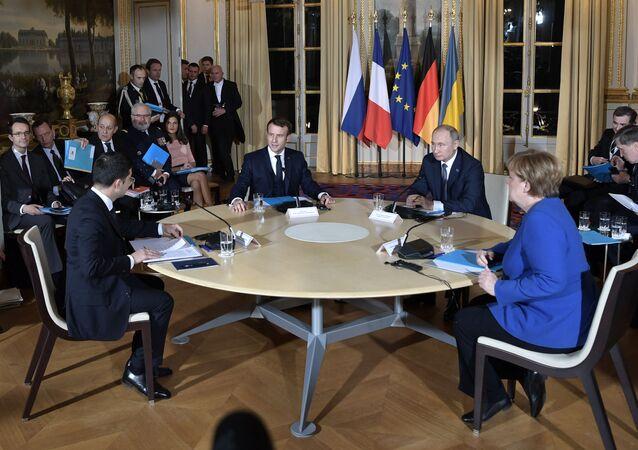 Sommet au format Normandie, le 9 décembre 2019