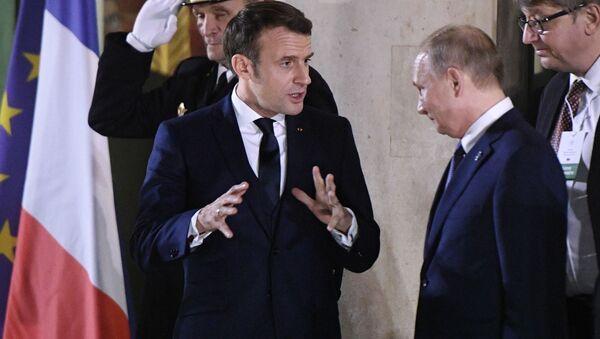 Emmanuel Macron et Vladimir Poutine à Paris, lors du sommet au format Normandie (9 décembre 2019) - Sputnik France