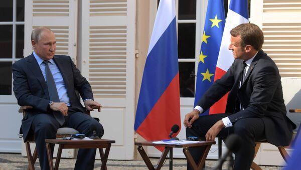 Vladimir Poutine et Emmanuel Macron au fort de Bregançon (19 août 2019) - Sputnik France