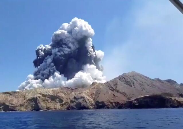 L'éruption d'un volcan sur White Island en Nouvelle-Zélande