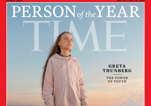 Greta Thunberg à la Une du magazine Time