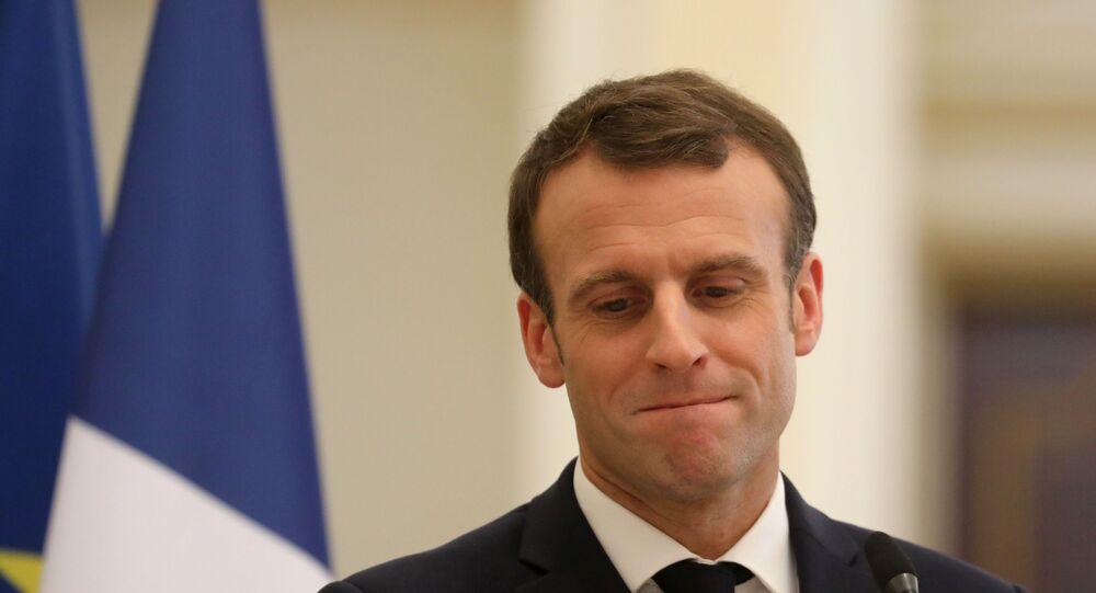Emmanuel Macron, Président de la République française.